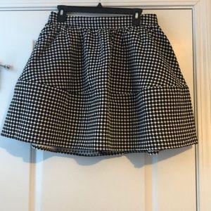 Black and White Dots Full Skirt